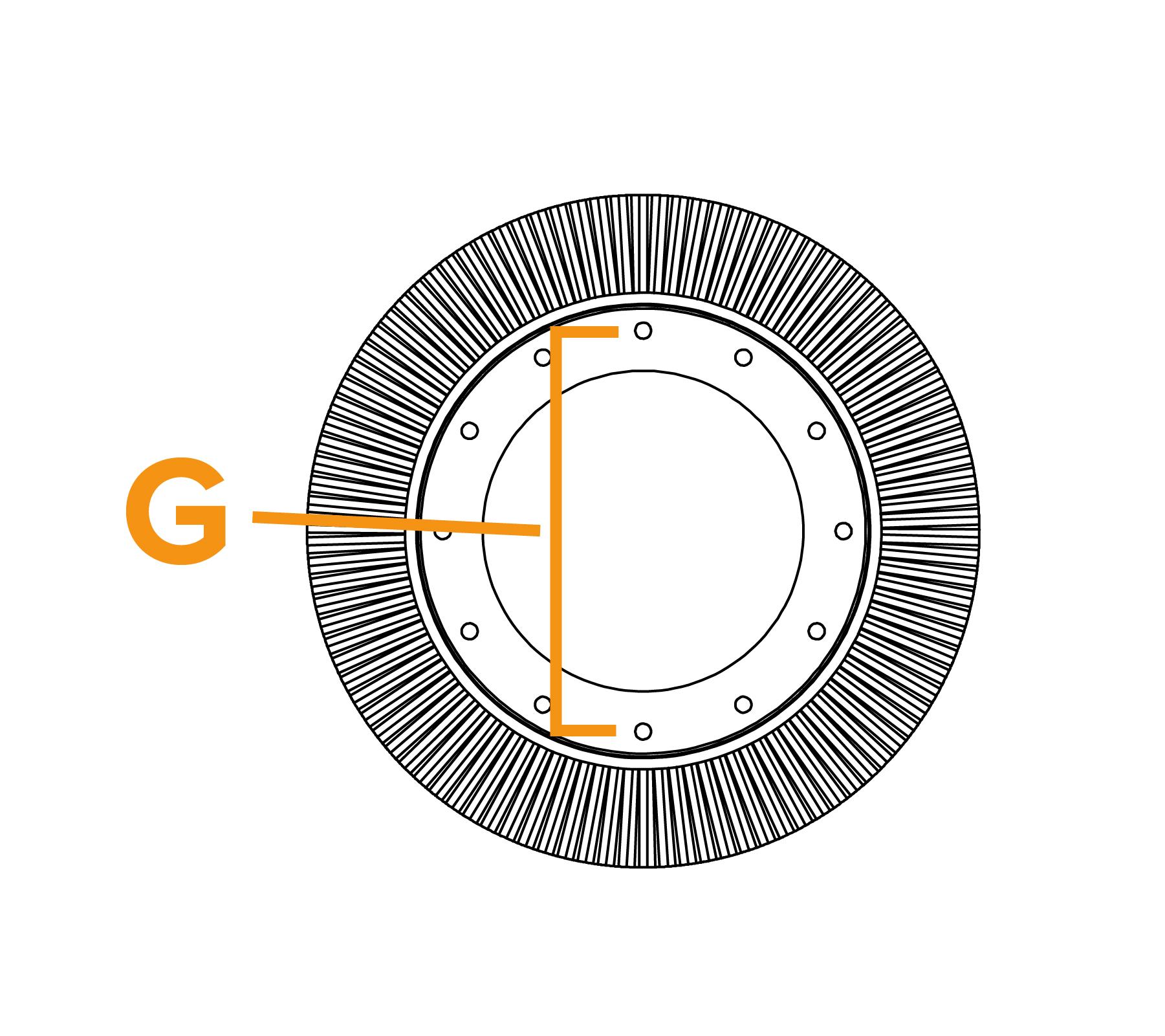 Potloodringborstel met grote diameter - diagram G