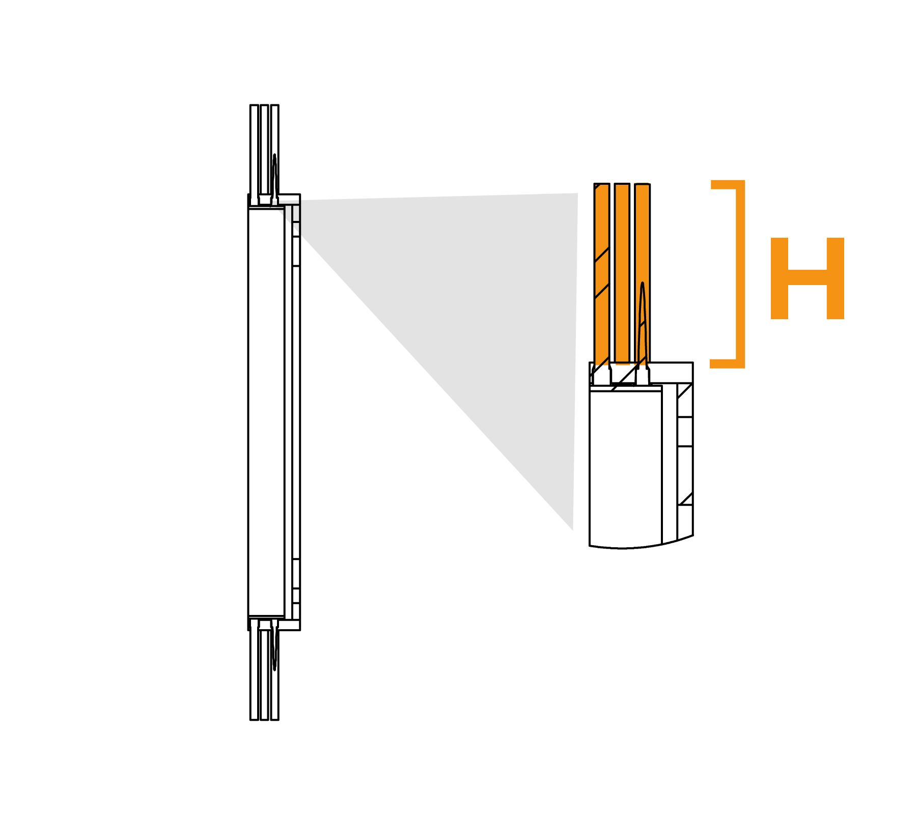 Potloodringborstel met grote diameter - diagram H