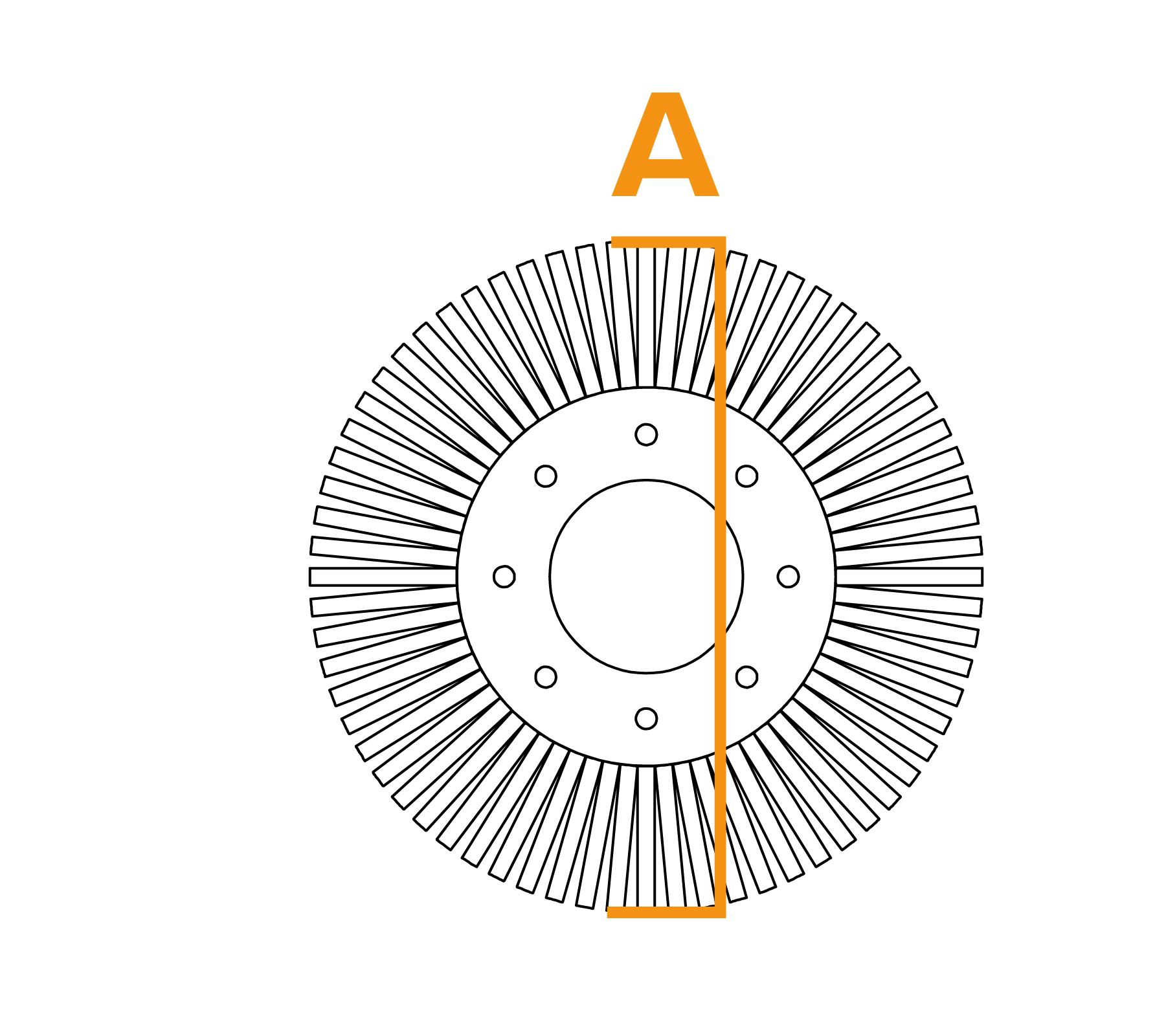 Potloodborstel met vaste kern - diagram A