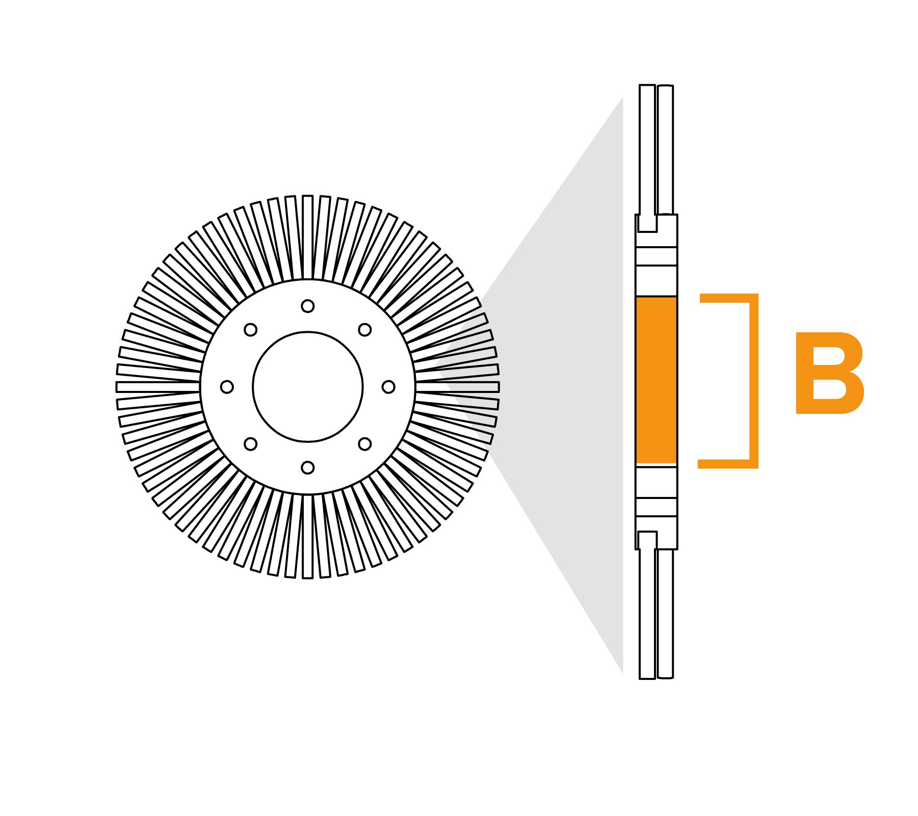 Potloodborstel met vaste kern - diagram B