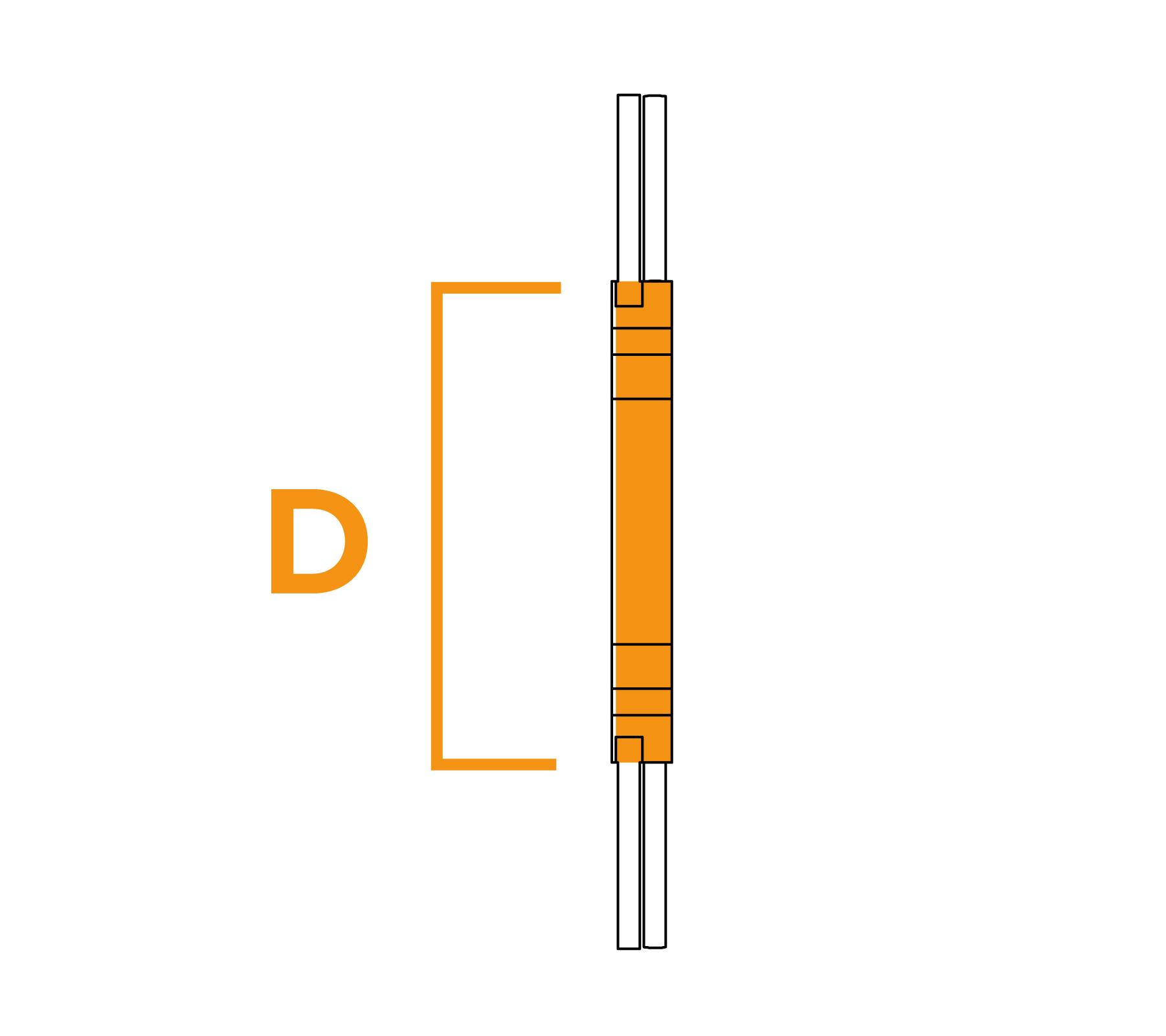 Potloodborstel met vaste kern - diagram D