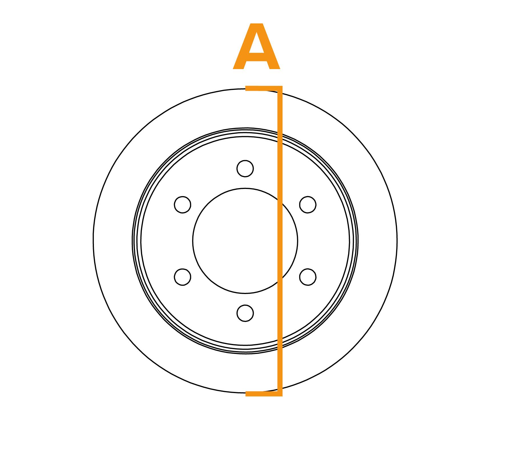 Ringborstel met platte draadflens - Schema A
