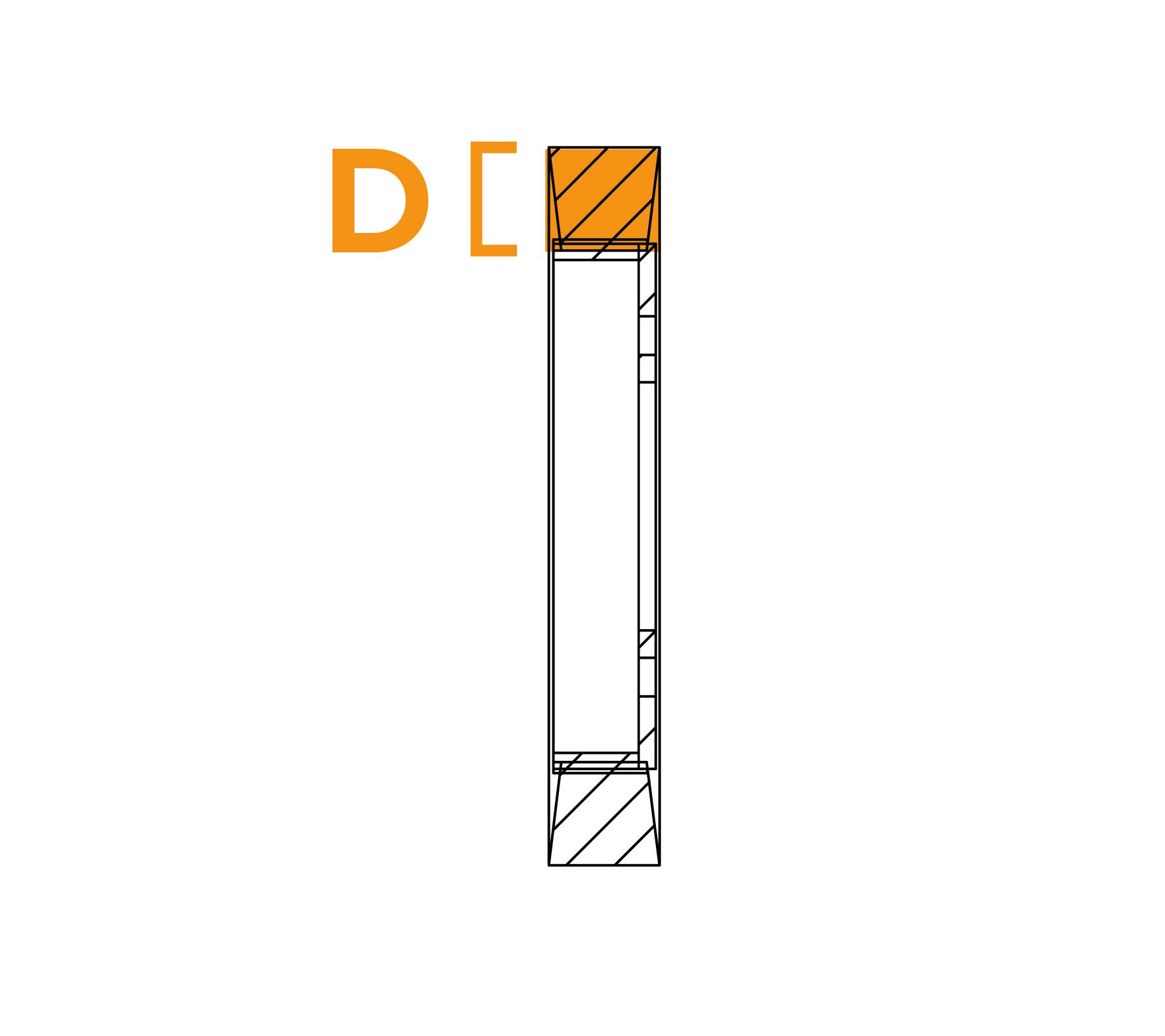 Ringborstel met platte draadflens - Diagram D