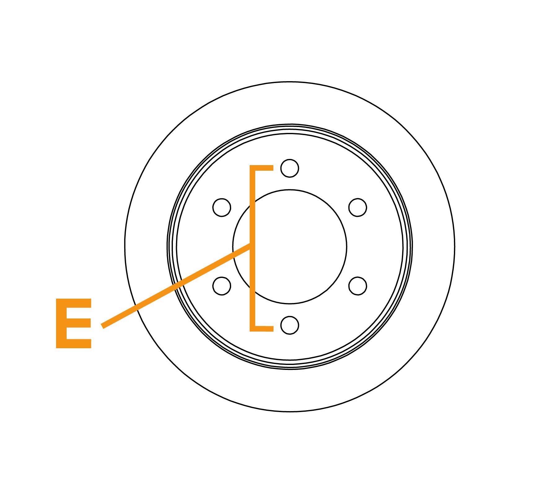 Borstel met platte draadflens - Schema E