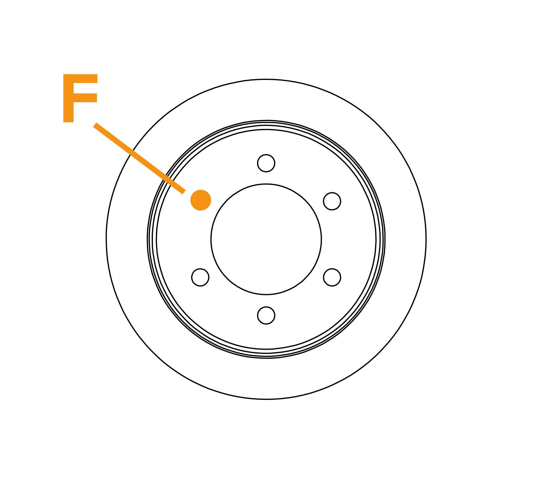 Ringborstel met platte draadflens - Schema F