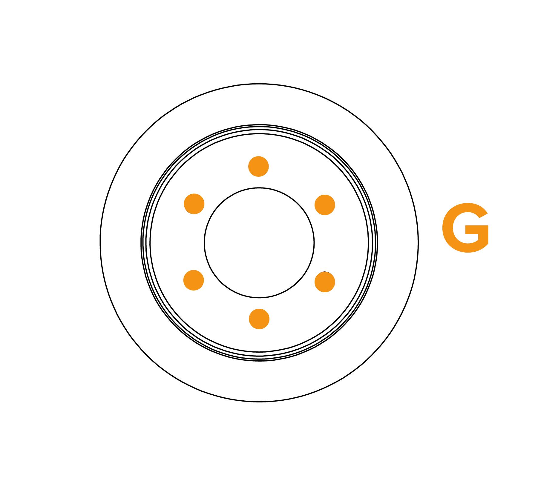 Borstel met platte draadflens - Schema G